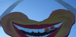 The World's Biggest Belly Laugh beneath the Arch